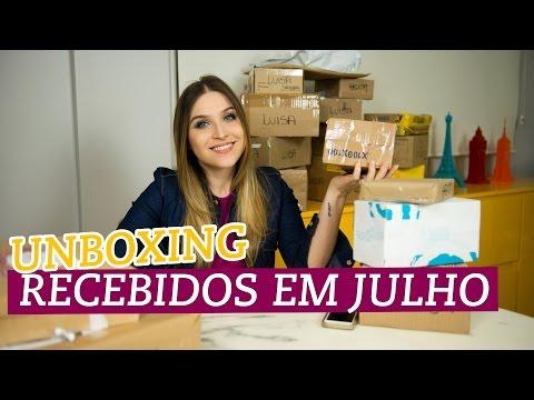 Unboxing: recebidos em Julho e Agosto!