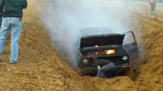 Good Friday Mud Bog in King William Va. 2009 (Truck on Fire)