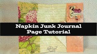 Napkin Junk Journal Page Tutorial
