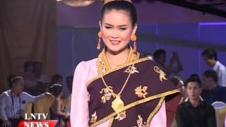 Lao NEWS on LNTV: Lao Grand Fashion Show 2014 in Vientiane showcases Lao silks and styles.20/10/2014