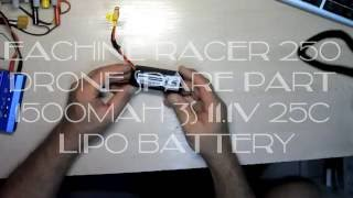www banggood com - Eachine Racer 250 Drone Spare Part 1500mAh 3S 11.1V 25C Lipo Battery