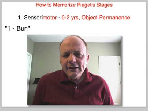 How to Memorize Piaget's Stages of Cognitive Development
