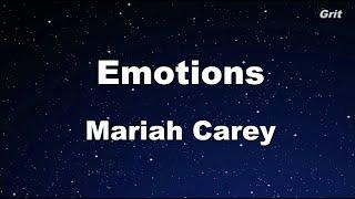 Emotions Mariah Carey Karaoke No Guide Melody Instrumental