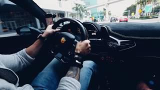 Exotic car POV speeding