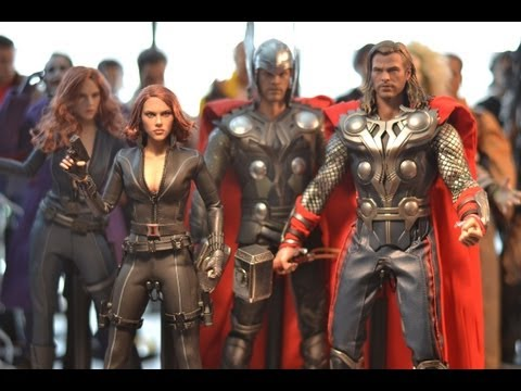 Hot Toys AVENGERS THOR & BLACK WIDOW comparison & review with previous versions! 12