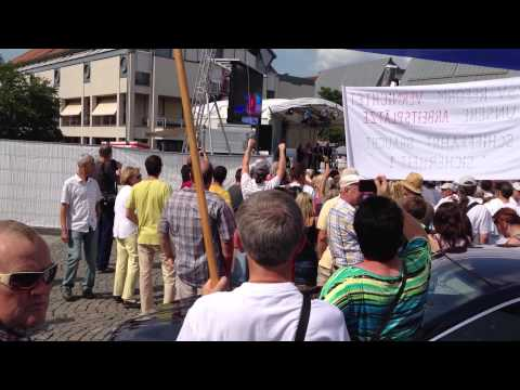 Angela Merkel ausgebuht  in Aschaffenburg 18.07.2013 [HD ] Original Full-Version