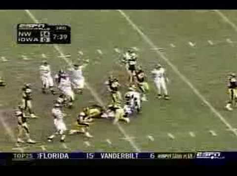 Northwestern Wildcats vs. Iowa Highlights 11/4/06 Video