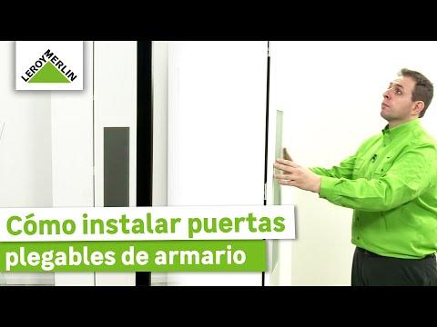 Cómo instalar puertas plegables de armario - LEROY MERLIN