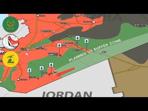 23 мая 2017. Военная обстановка в Сирии. Наступление боевиков США на САА. Русский перевод.