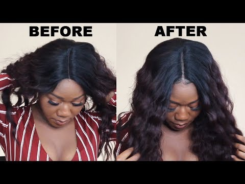 How to Make Synthetic Wig Look Natural with NO LEAVE OUT (BEGINNER): Cheap $40 Atalya Lace Front Wig