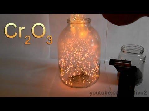 Химический вулкан и огненная метель с оксидом хрома!