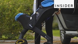 This Baby Car Seat Turns into a Stroller