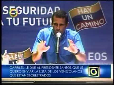 Capriles R: El Gobierno es cómplice de la guerrilla colombiana.ts
