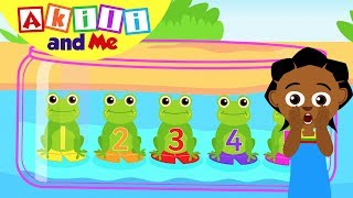 Count Frogs with Akili | Akili and Me | Cartoons for Preschoolers