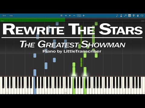 The Greatest Showman - Rewrite The Stars (Piano Cover) by LittleTranscriber