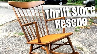 Thrift Store Rescue / Repairing a Vintage Rocking Chair