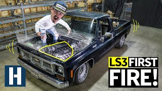 Firing Up a 669hp V8 For the First Time! Zac's C10 Chopper Hauler Lives Again