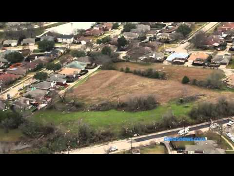 Raw Video: Aerial view of tornado damage in Glenn Heights and Garland