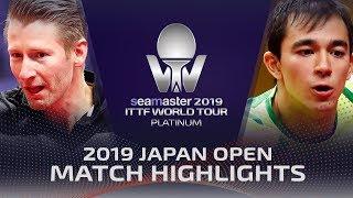 Hugo Calderano vs Ruwen Filus   2019 ITTF Japan Open Highlights (R16)