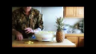 Dehydrating Pineapple