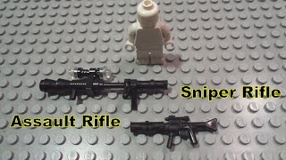 How to Build a Sniper and Assault Rifle LEGO