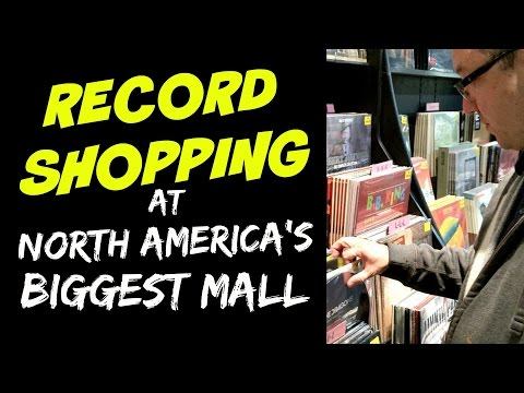 Shopping for VINYL at North America's LARGEST MALL   West Edmonton Mall