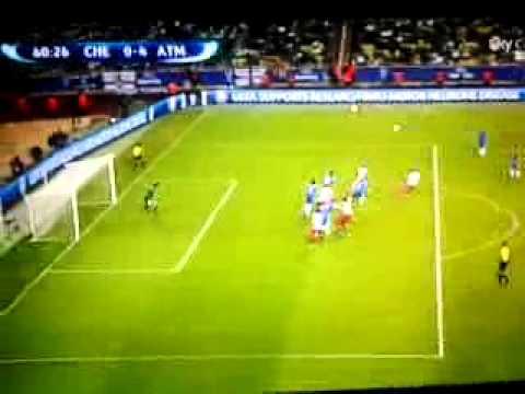 Chelsea-Atletico Madrid UEFA Supercup-Gol Miranda