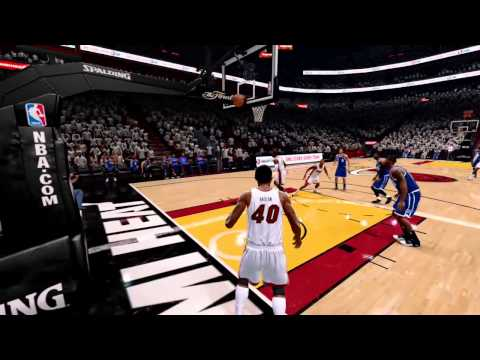 NBA Live 14 Udonis Haslem Inbound Fail (PS4)