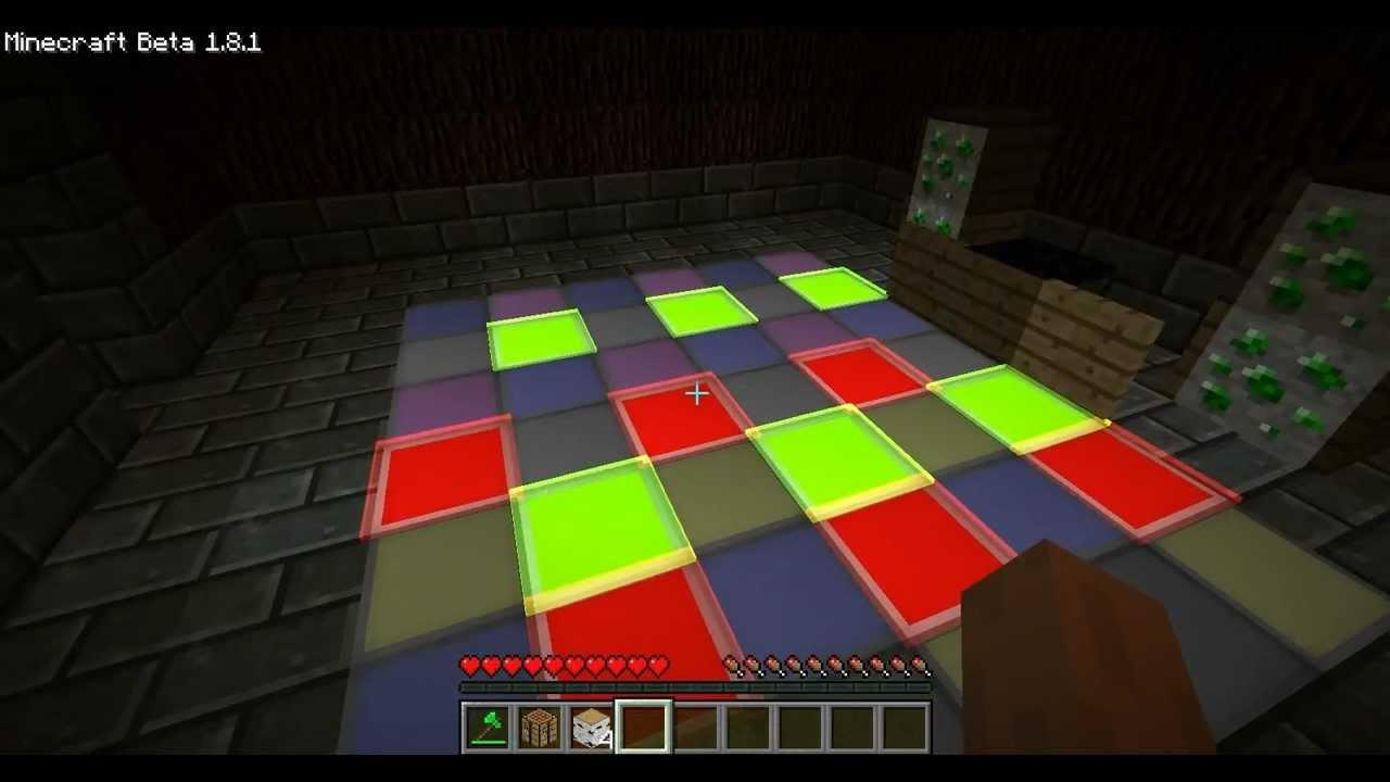 Minecraft DANCE Floor Using Redpower 2 Mod YouTube