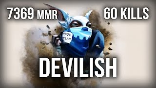 DeviLisH Perfect Meepo Gameplay 60 kills Ranked Dota 2