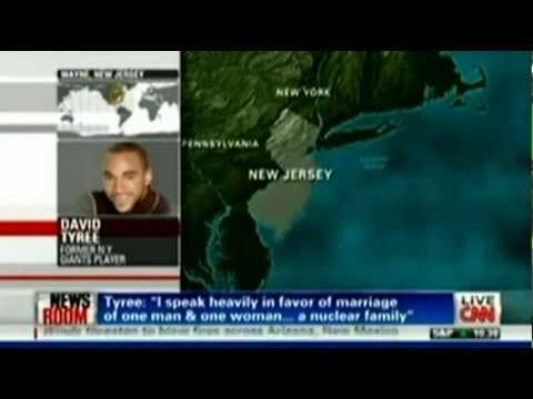 0 David Tyree Boldly Defends Marriage on CNN SOURCE: CNN