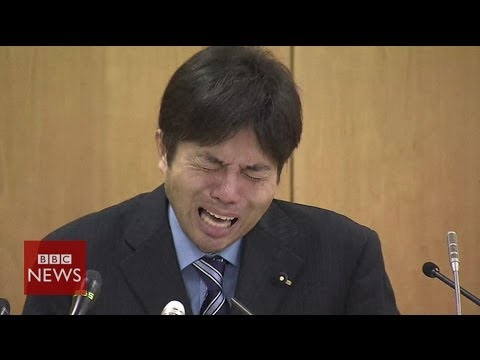 Crying Japanese politician Ryutaro Nonomura is an internet hit - BBC News