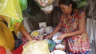 Cheap Breakfast - Noodle Street Food - Popular Pnom Penh Street Food