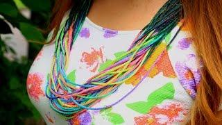 Ожерелье из вощеного шнура своими руками