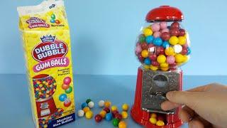 Gumball Machine Dubble Bubble Gum unboxing   Candy Machine