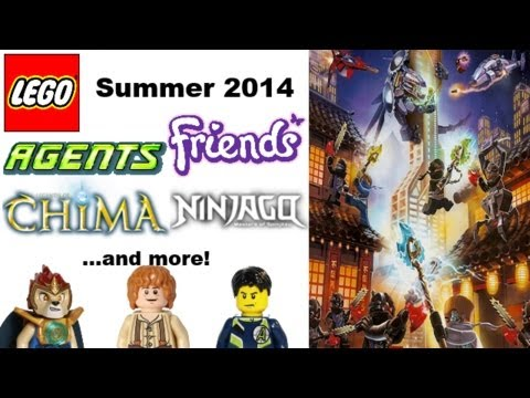 Summer 2014 LEGO Ninjago. Chima. Agents. Friends. Hero Factory sets lists and more!