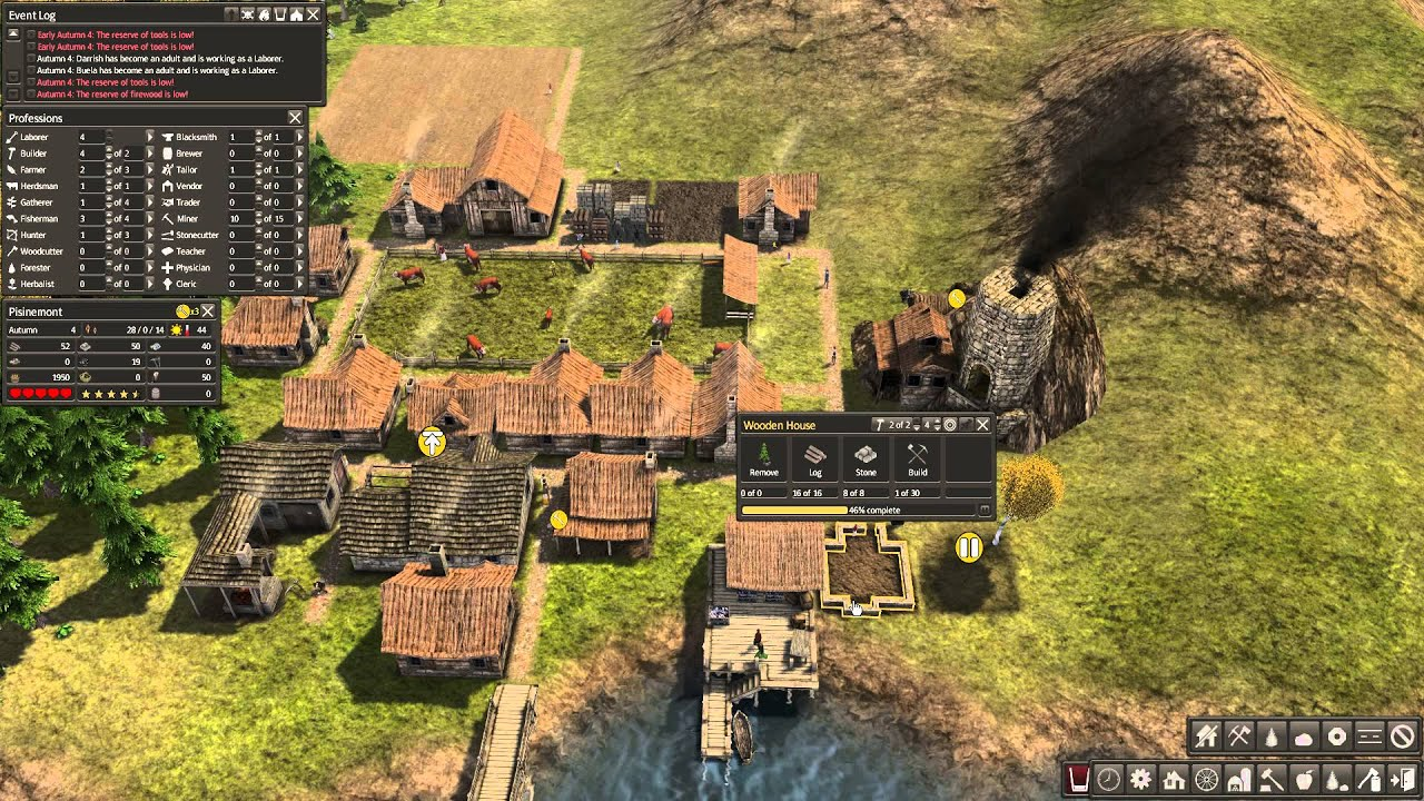 How to gain population on Banished game - YouTube