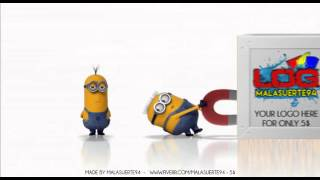 Funny 3d intro with minions dragging your logo