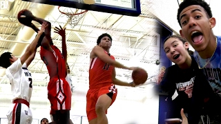 Shareef O'Neal Power Dunk + Ira Lee 2 Hand Windmill! | + People Shouting Out BallerVisions