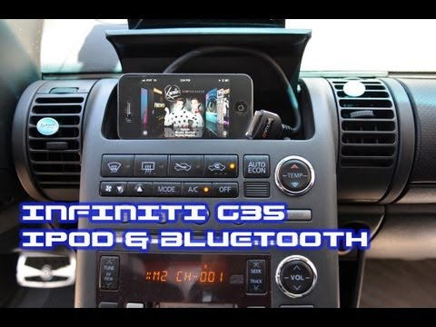 Infiniti G35 IPOD & BLUETOOTH. iSimple PAC PXAMG A2DP AVRCP Streaming by AutoToys.Com