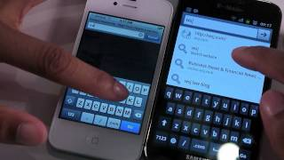 Apple iPhone 4S Hands On and Galaxy S II Comparison
