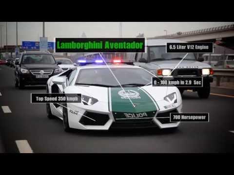 Frota de carros da polícia de Dubai