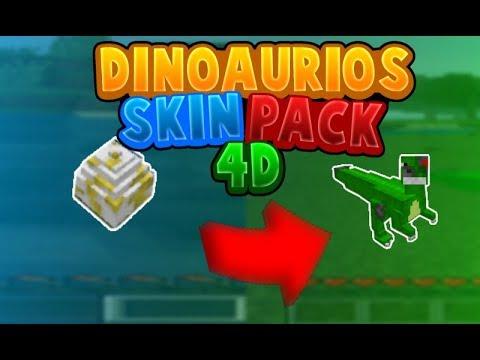 Como ser un dinosaurio en minecraft pe 1.5. O 1.6.X Skin pack 4D (Mediafire)
