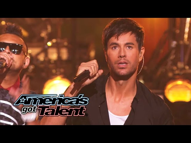 Enrique Iglesias and Sean Paul Get the Crowd Going With quotBailandoquot - America39s Got Talent 2014