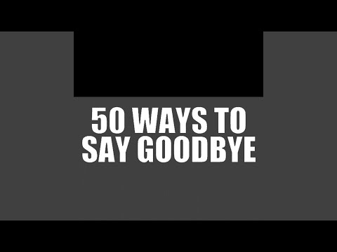 Taryn manning 50 ways to say goodbye