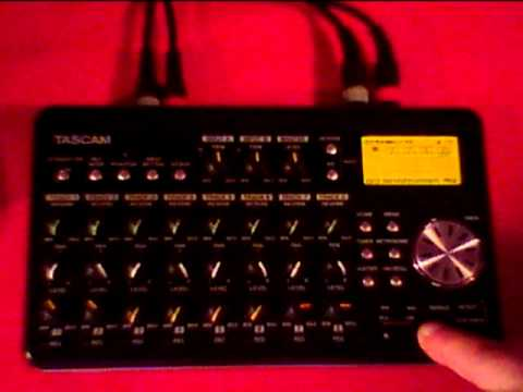 TASCAM DP 008 Overview and  Real Time Recording with Synths