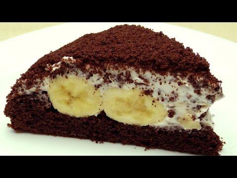 Торт с бананами рецепты фото