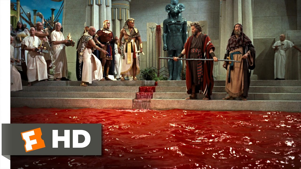 The ten commandments 3 10 movie clip moses turns water for Blood in blood out mural la river