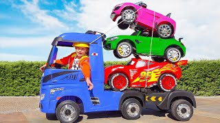 Max and Katy their tow truck cars