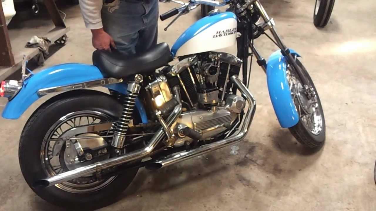 1969 Harley Davidson Sportster XLCH - Vintage - YouTube